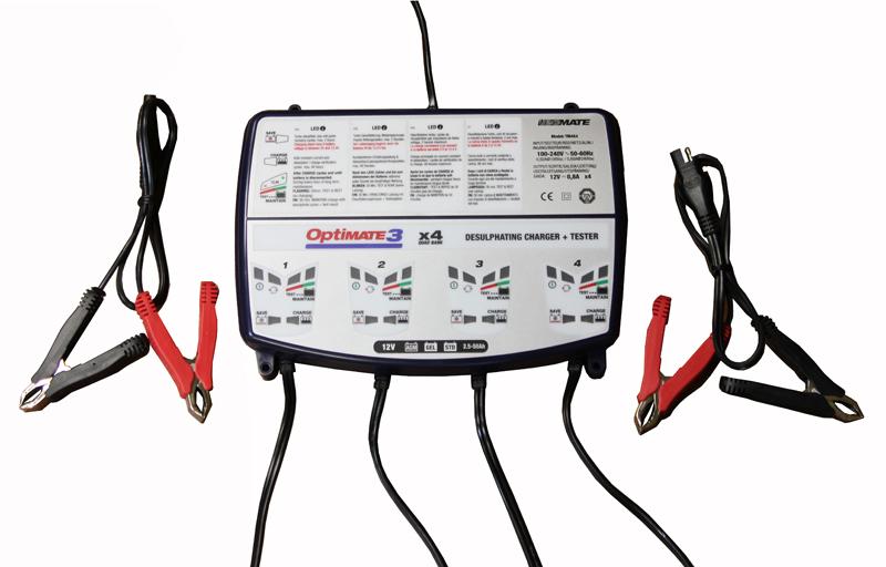 Зарядное устройство Optimate 3 X4 канала TM454