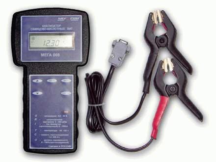 Тестер аккумуляторных батарей Мега003