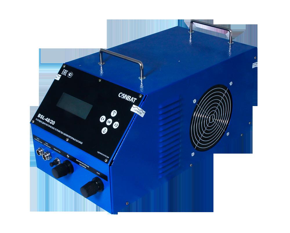 Разрядное устройство аккумуляторных батарей 60B 20А «CONBAT», BSL-60/20