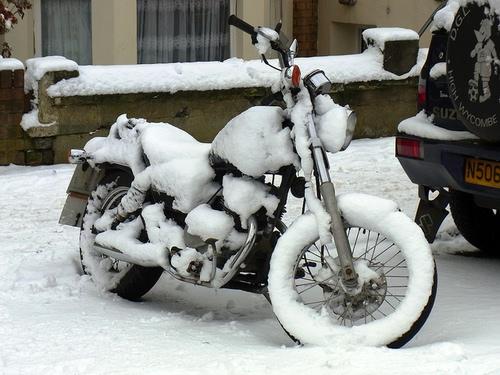 Хранение мотоцикла зимой