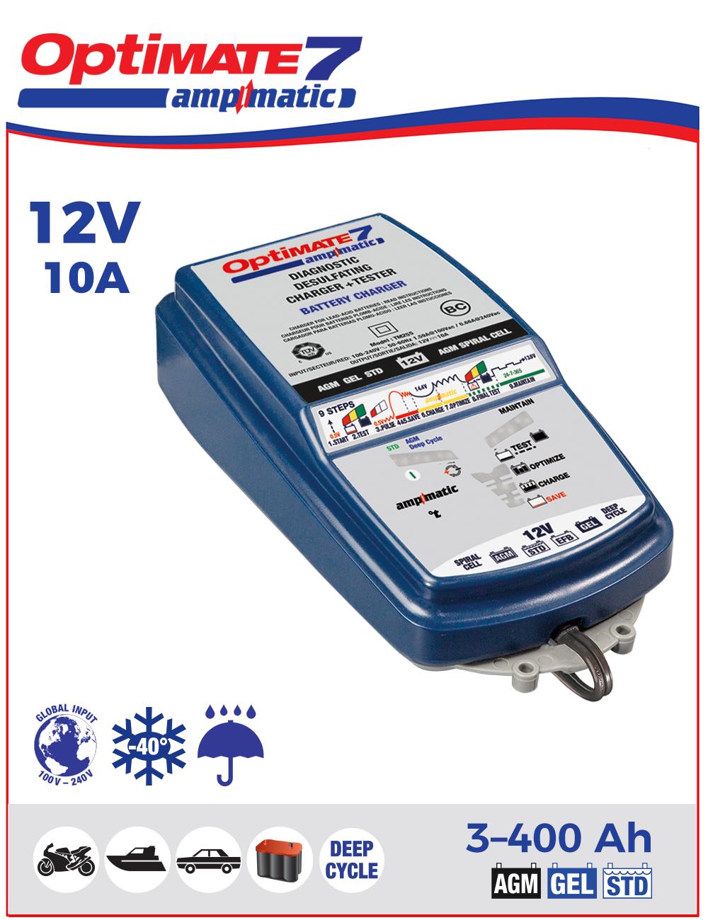 Зарядное устройство автомобильных аккумуляторов Optimate 7 Ampmatic TM254