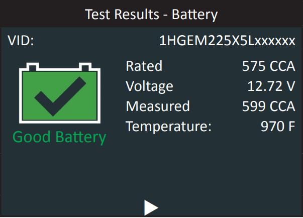 CPX900 тест аккумулятора, стартера, генератора