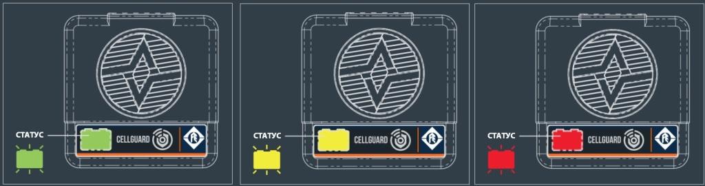 индикатор аккумуляторов cellguard system