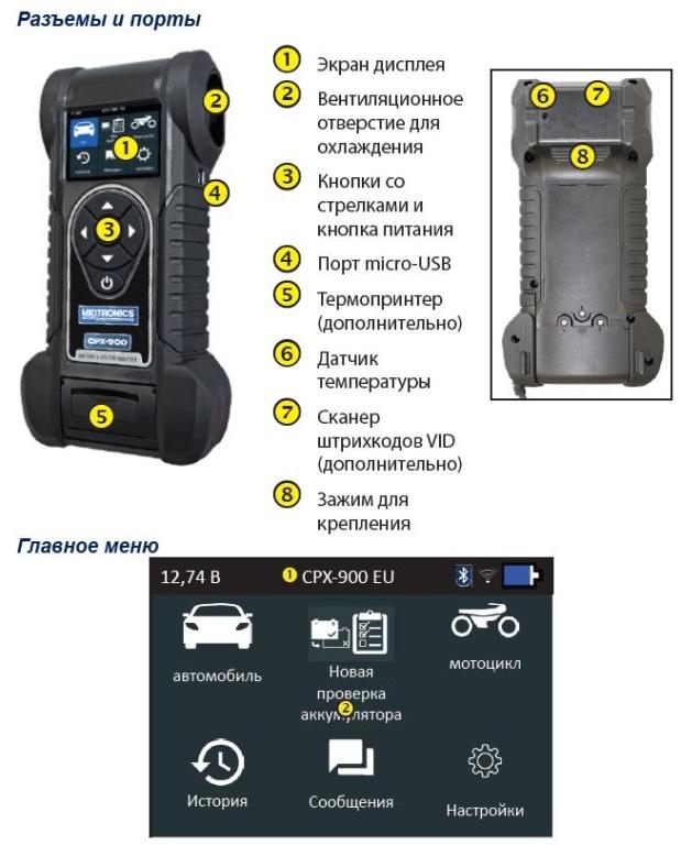 cpx 900 midtronics test overview 619x768 - Тестер аккумуляторов CPX-900P Midtronics с термопринтером