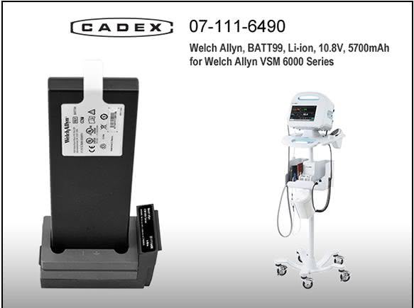 Адаптер Cadex для Welch Allyn VSM 6000