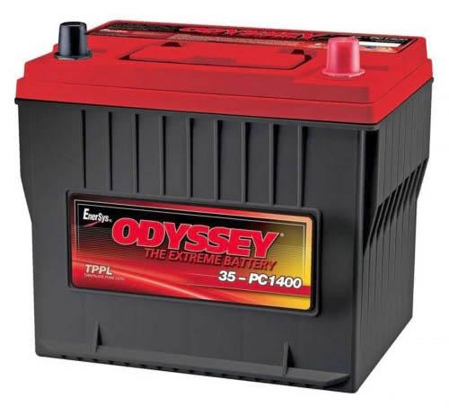 odyssey pc1400 35 1  - Сдвоенная батарея в штатное место Toyota Land Cruiser 79